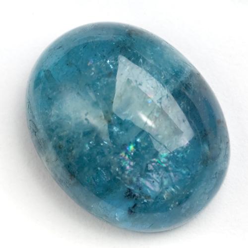 Blue aquamarine cabochon