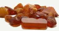 Brown rough amber gemstone