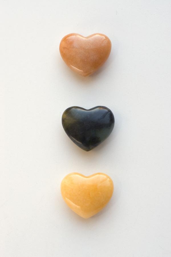 Agate in heart shape